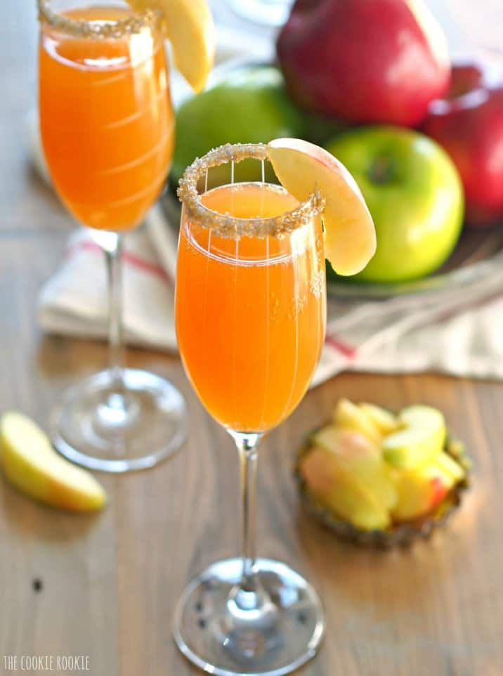 Apple Cider Mimosas!