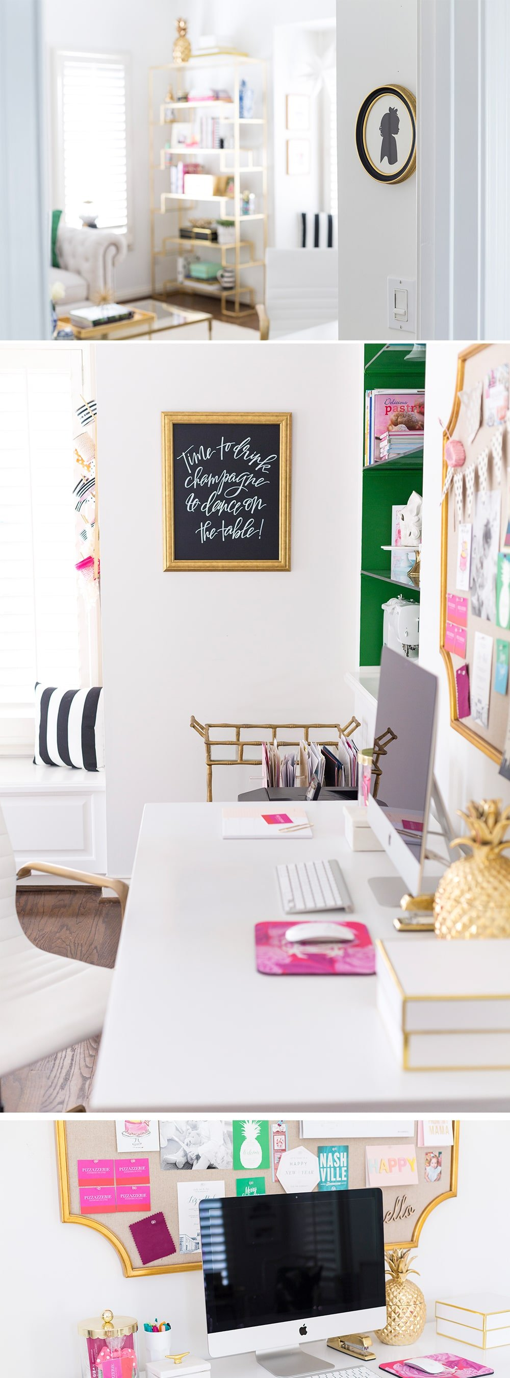 Home Office Reveal: Chic Blog Office of Pizzazzerie.com
