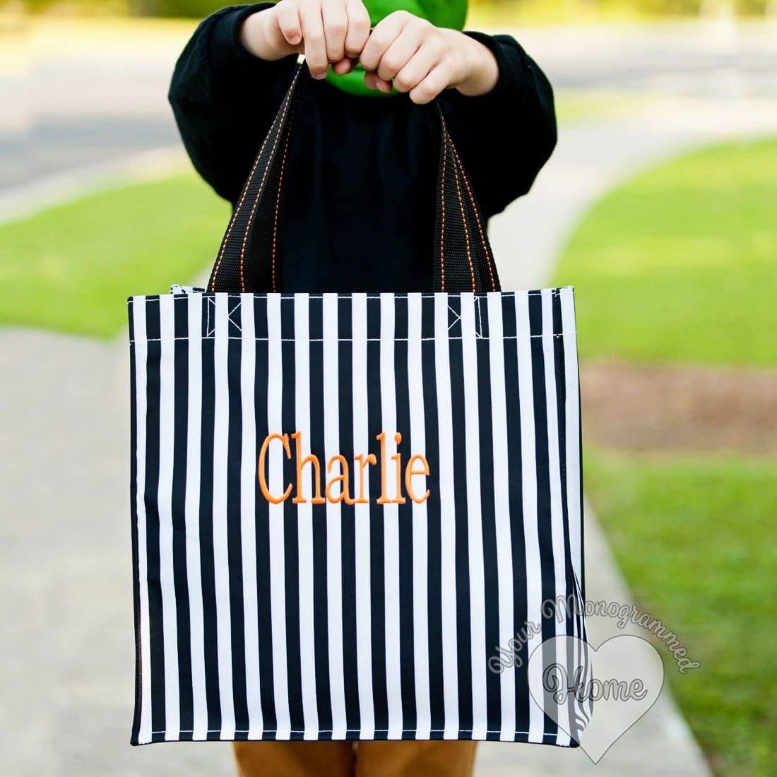Monogrammed Trick or Treat Bags