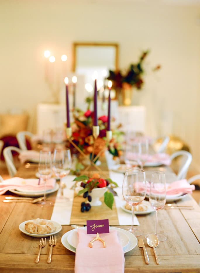 Touch of Pink Thanksgiving Tablescape