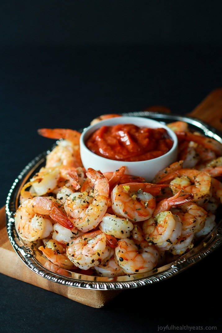 Garlic Herb Roasted Shrimp | Skinny Party Appetizers