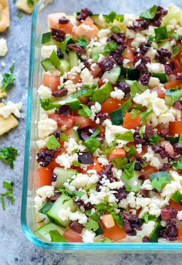 Healthy Greek Layer Dip