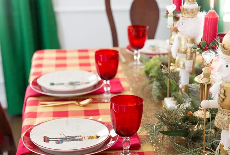 Setting the Christmas Table: Nutcracker Style!