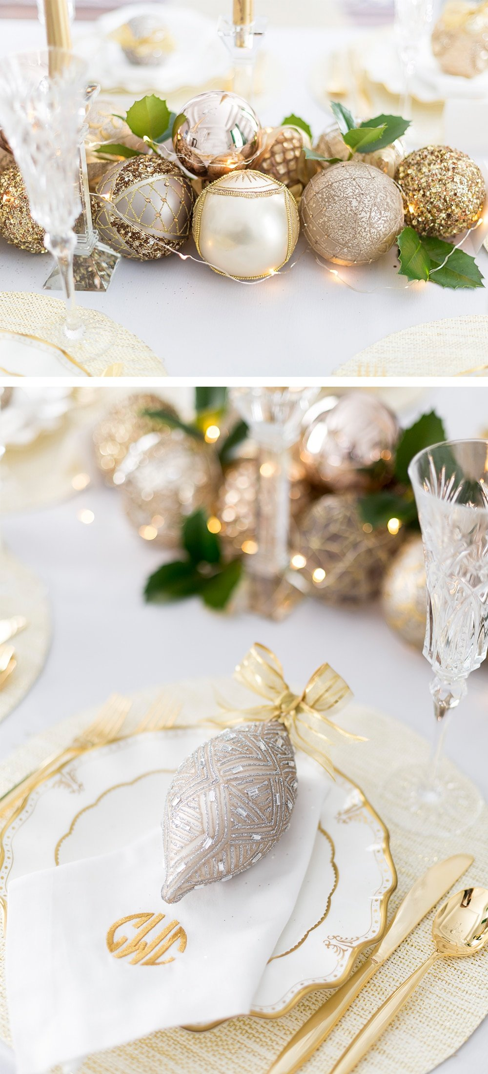 Glitzy Glam Holiday Table | Holiday Tablescape