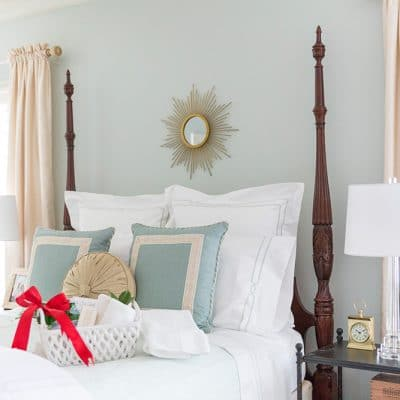 Guest Room Makeover | Sherwin Williams Sea Salt Color