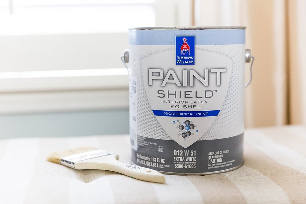 Calming Paint Color for guest room makeover, Sherwin Williams Sea Salt