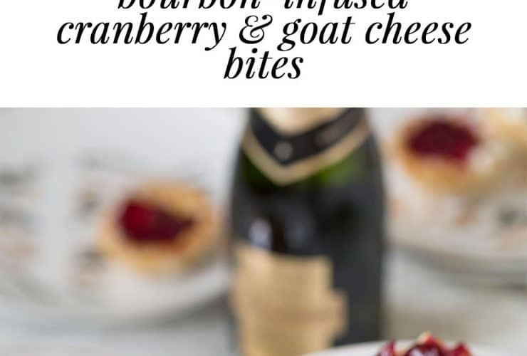 Bourbon Infused Cranberry & Goat Cheese Bites