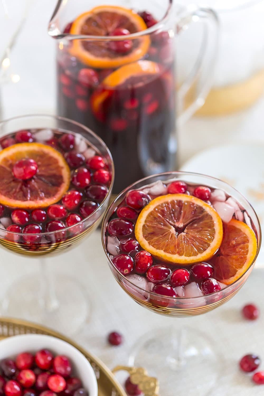 Cranberry Blood Orange Sangria, perfect for the holidays!