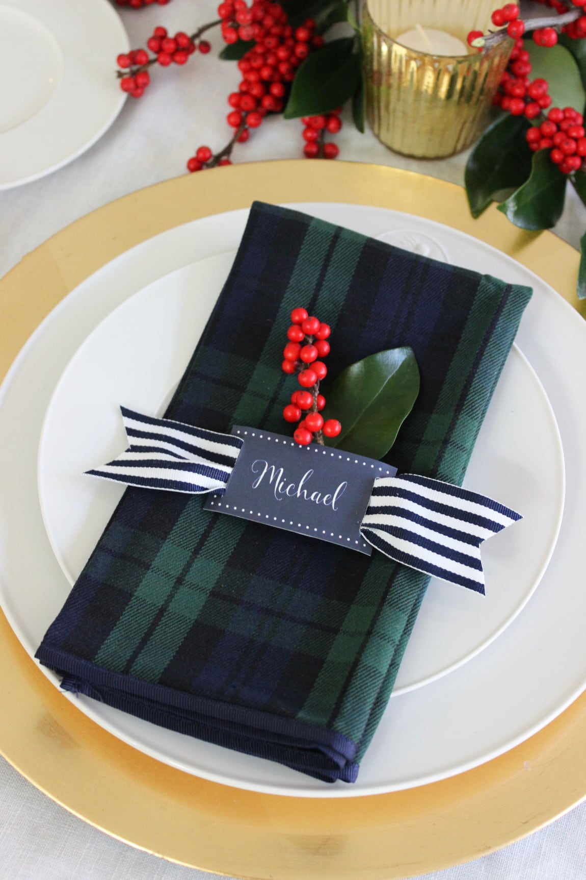 Christmas Table Place Setting, love this!