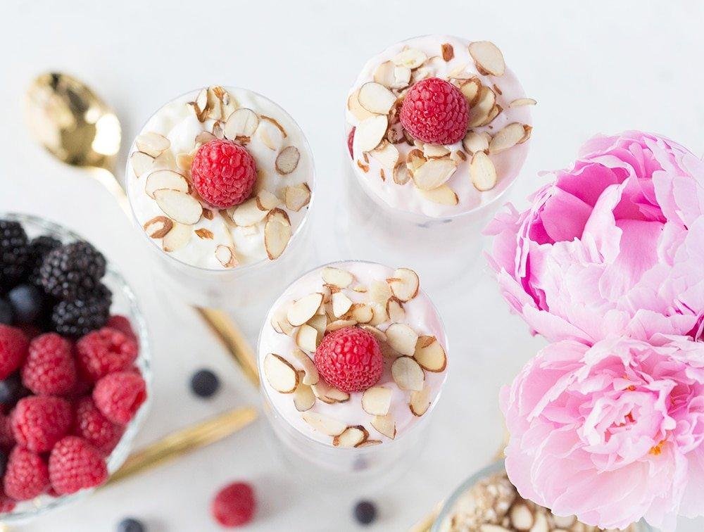 Granola Custard Parfaits! Cute for a baby shower!