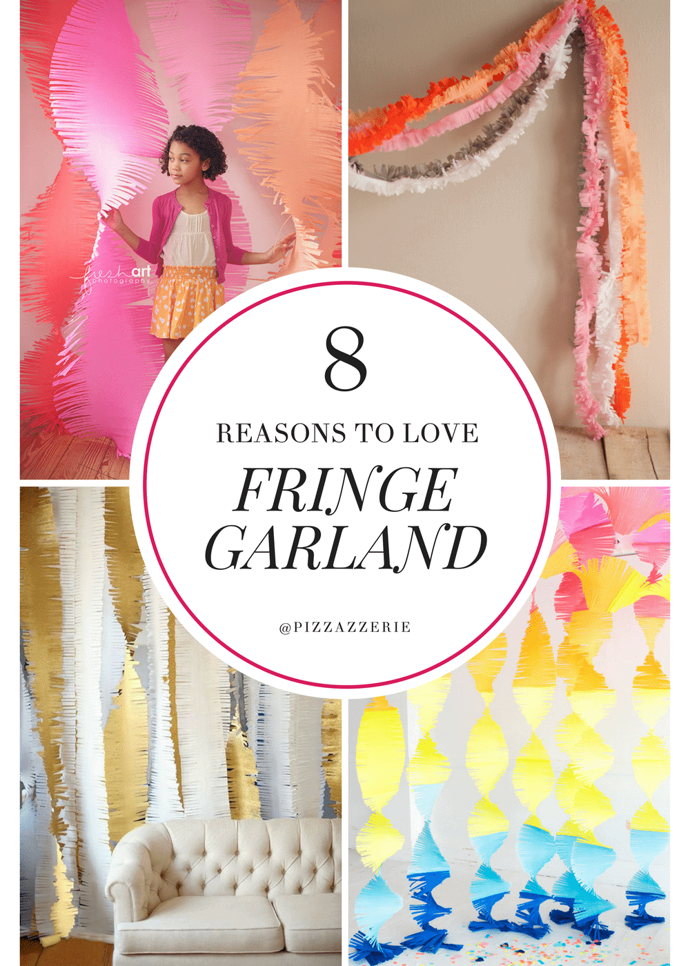 FRINGE GARLAND, how to make it, fringe garland streamers, creative party inspiration!