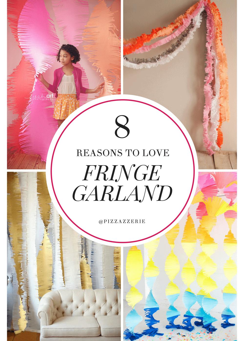 FRINGE GARLAND, how to make it, fringe garland streamers, creative party inspiration!