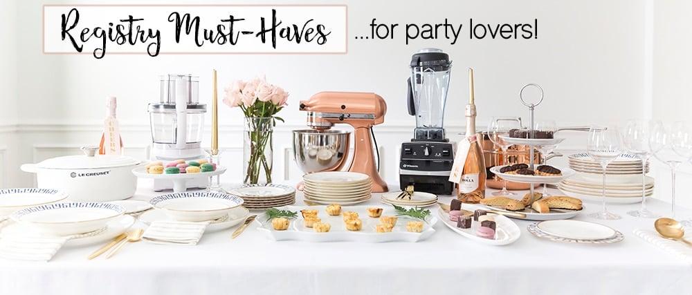 Wedding registry must-haves!