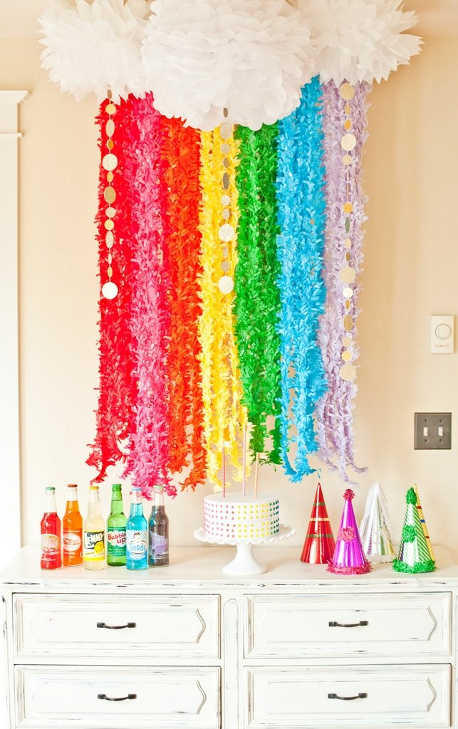 Rainbow Fringe Garland Ideas