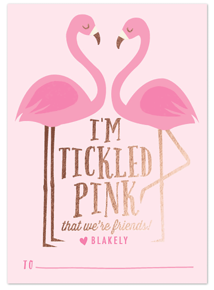 I'm tickled pink that we're friends Valentine!