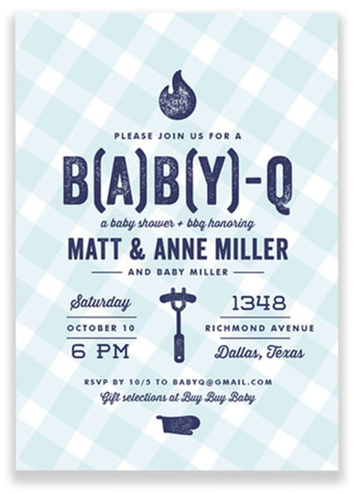 BABYQ Baby Shower Invitation