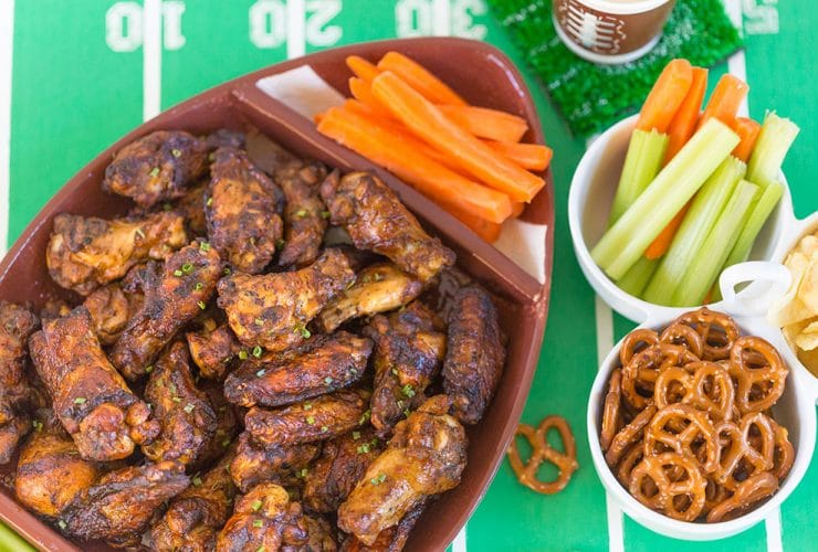 Fave Football Appetizers: Cooked Perfect Fire Grilled Zesty Herbs & Spice Wings