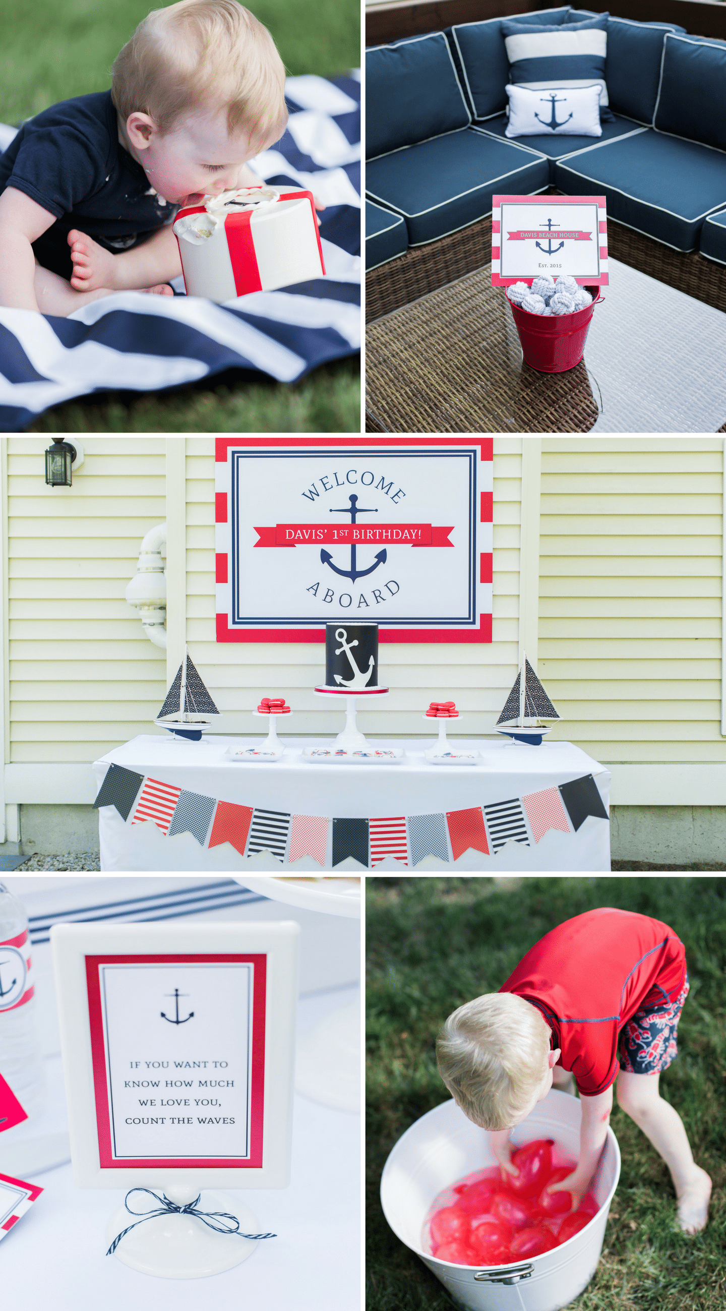 1st Birthday, Nautical Birthday Party Details