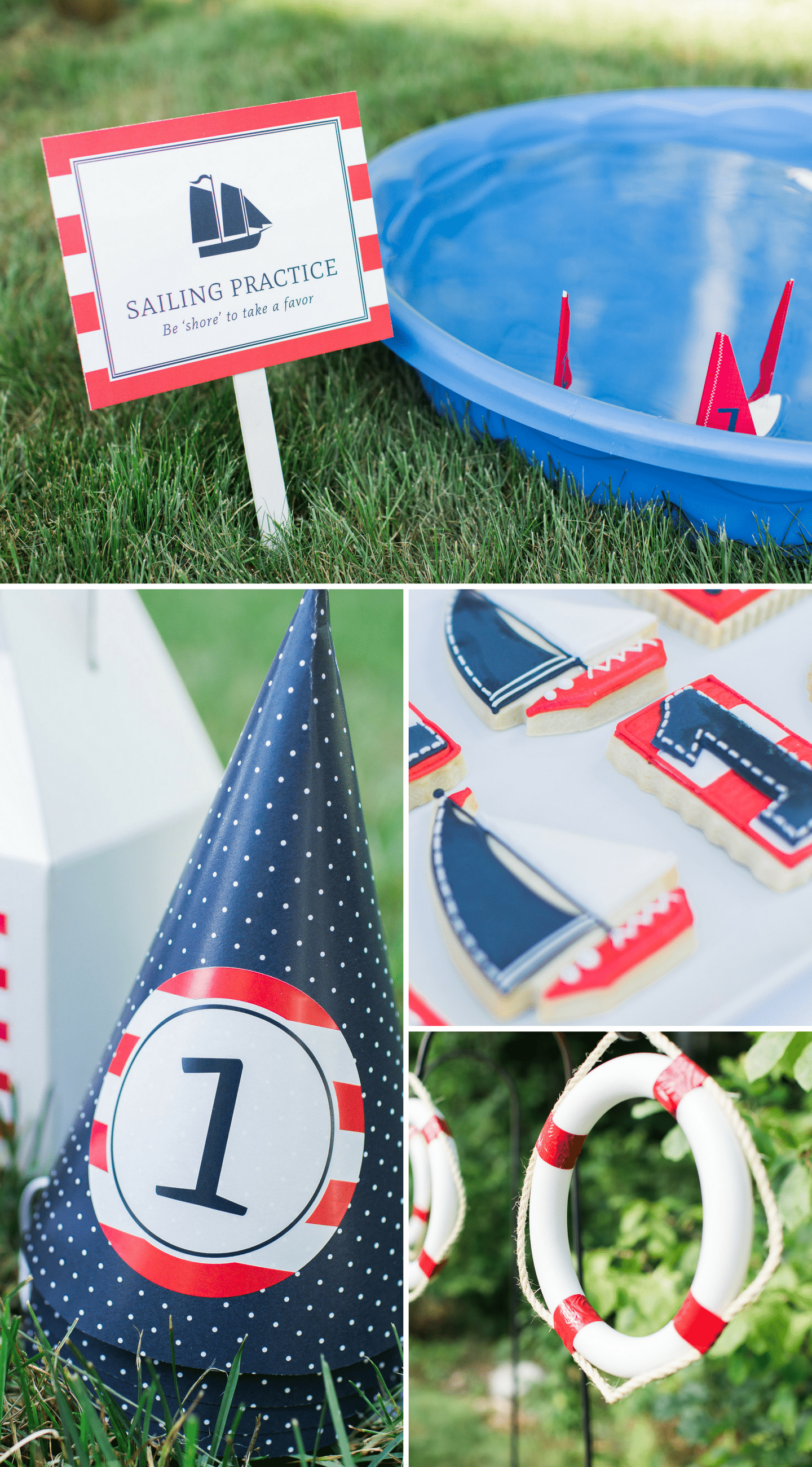 Nautical Birthday Party Details for a 1st Birthday Party