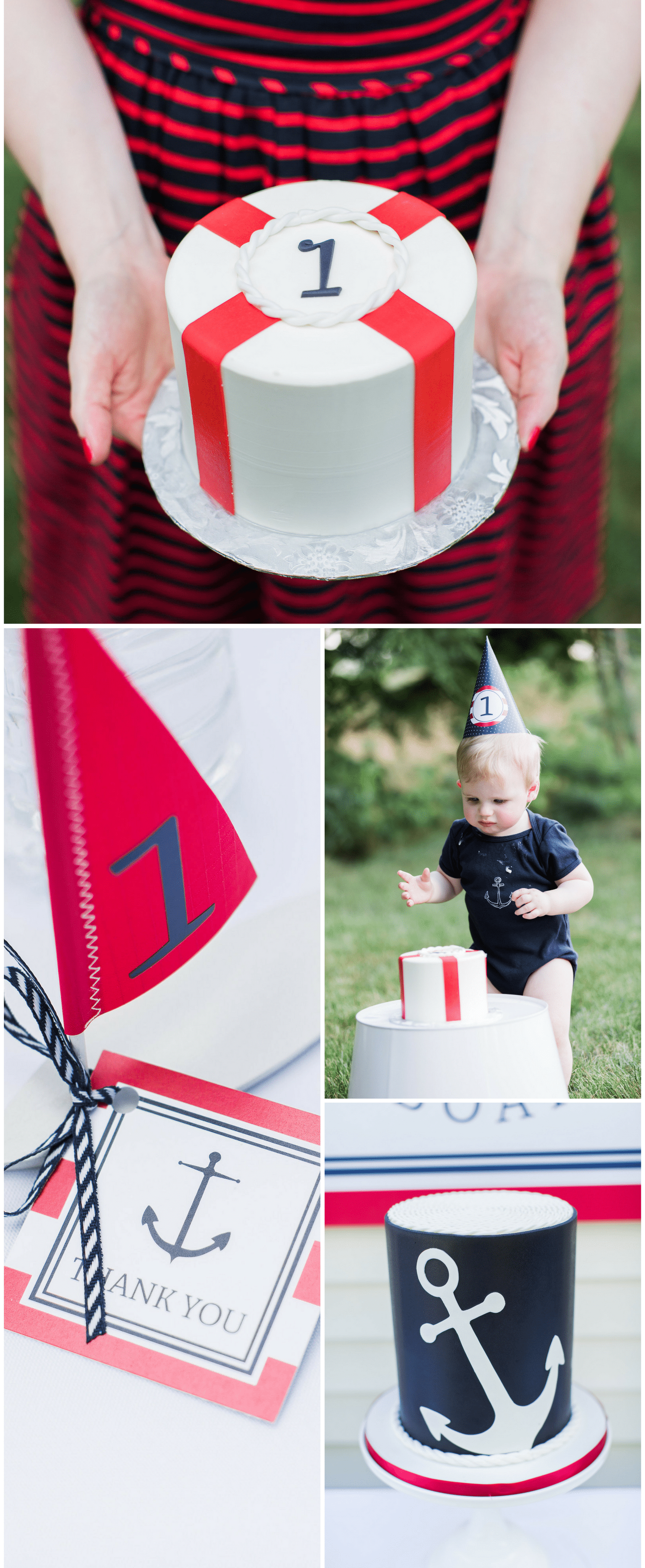 Nautical Birthday Party, the cutest 1st birthday party!