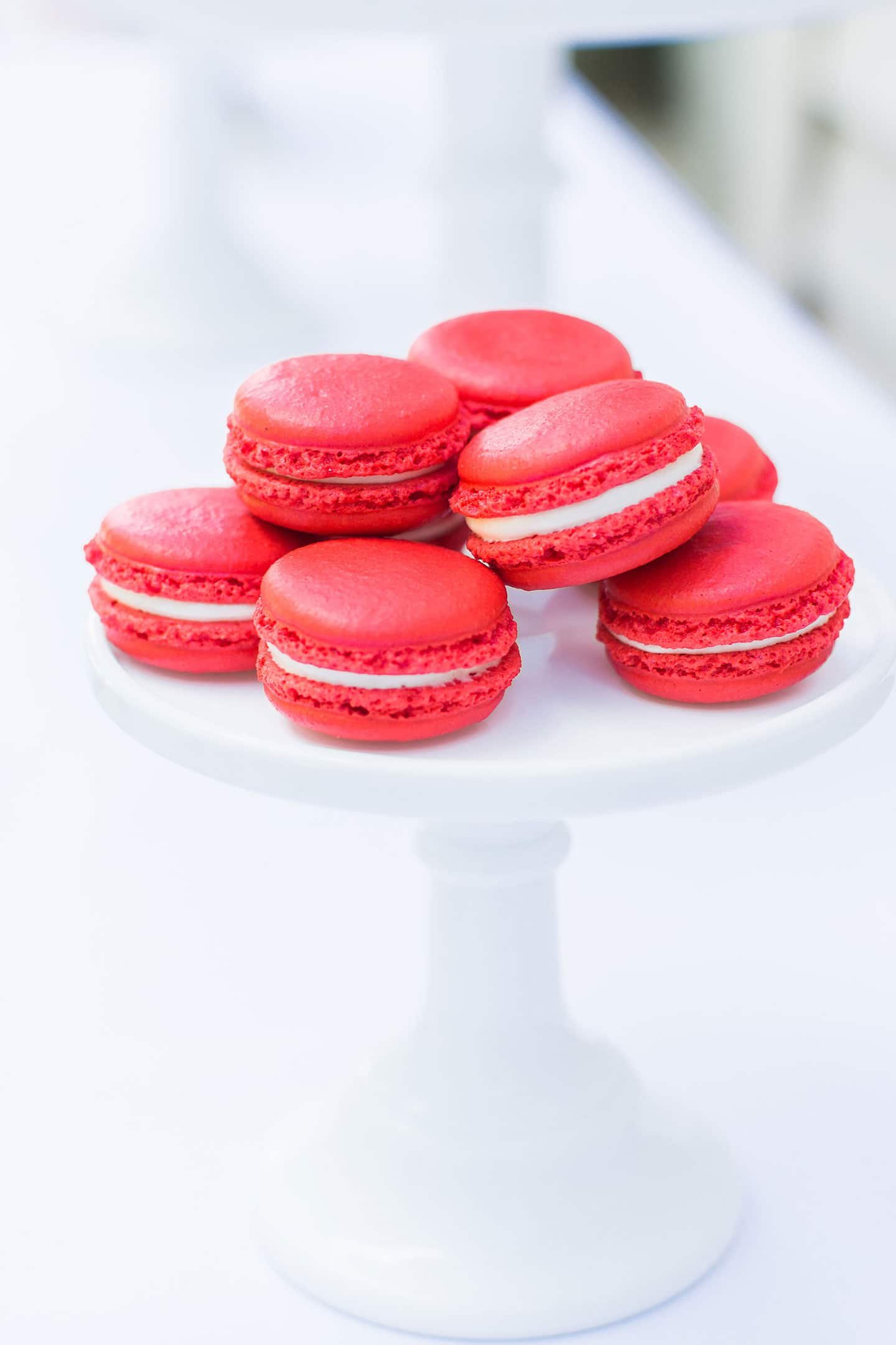 Red Macarons for a Nautical Birthday Party!