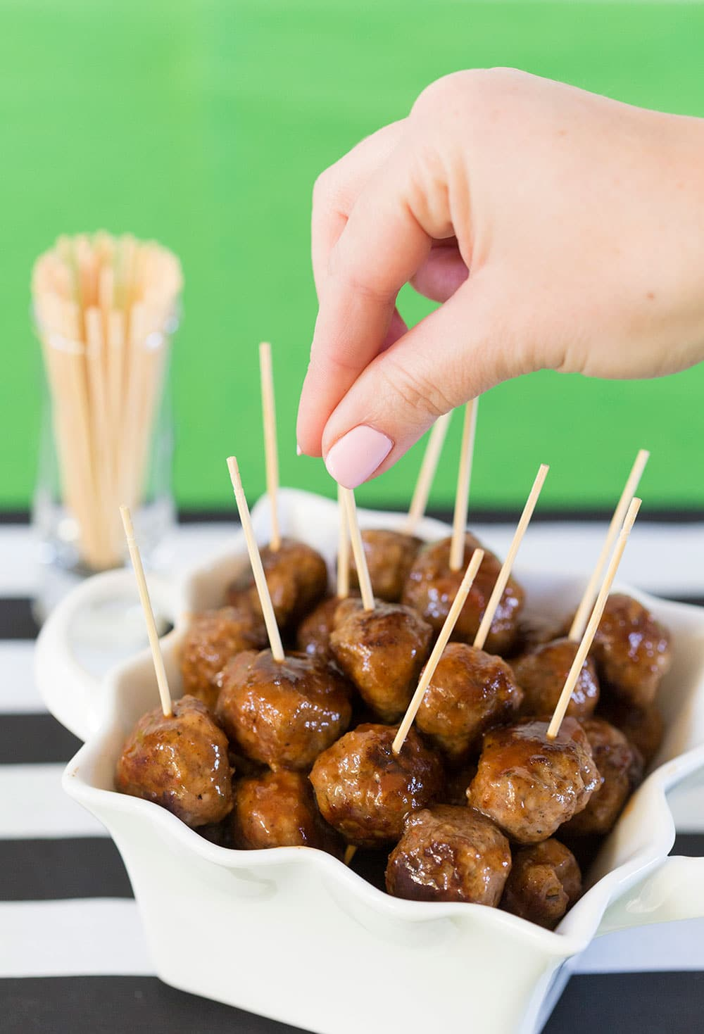 Spicy Cocktail Sausage Balls | Perfect Super Bowl Appetizer!
