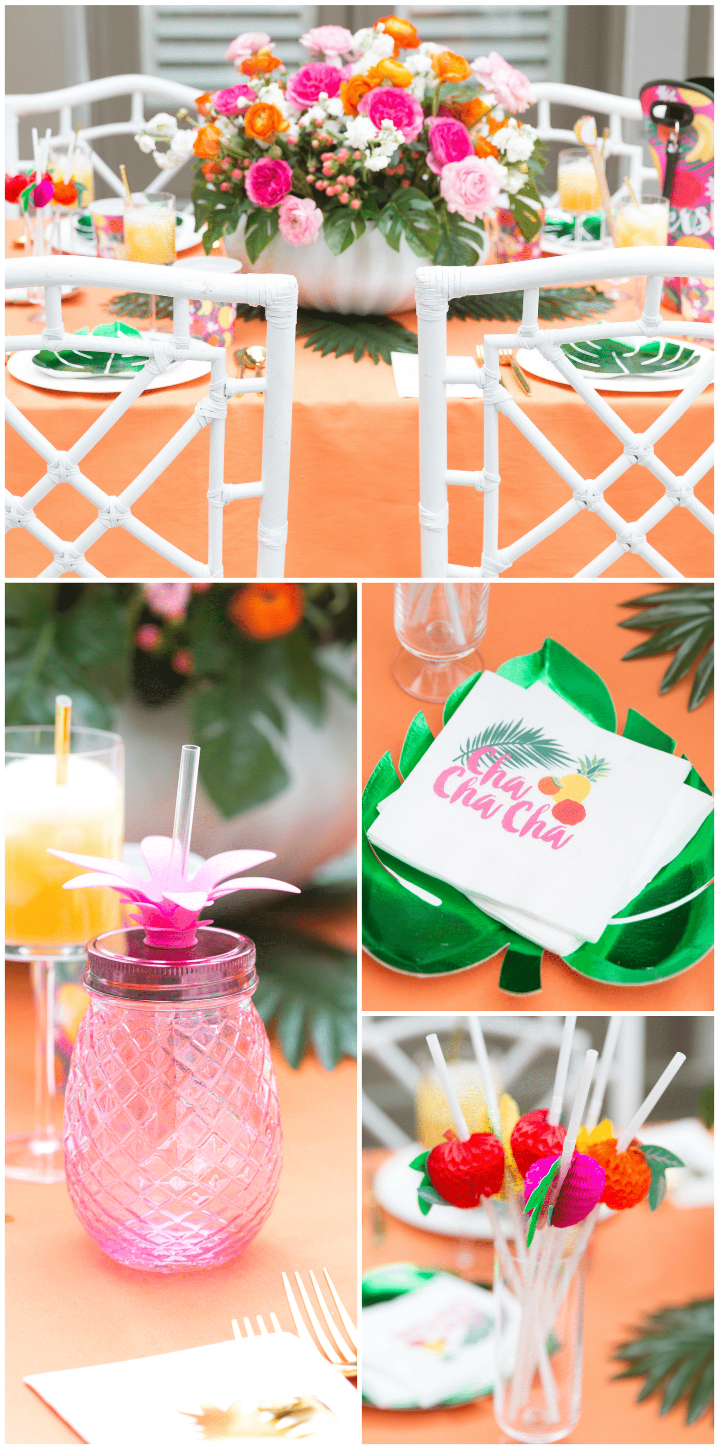 Tablescape Tips for a Tropical Soiree!