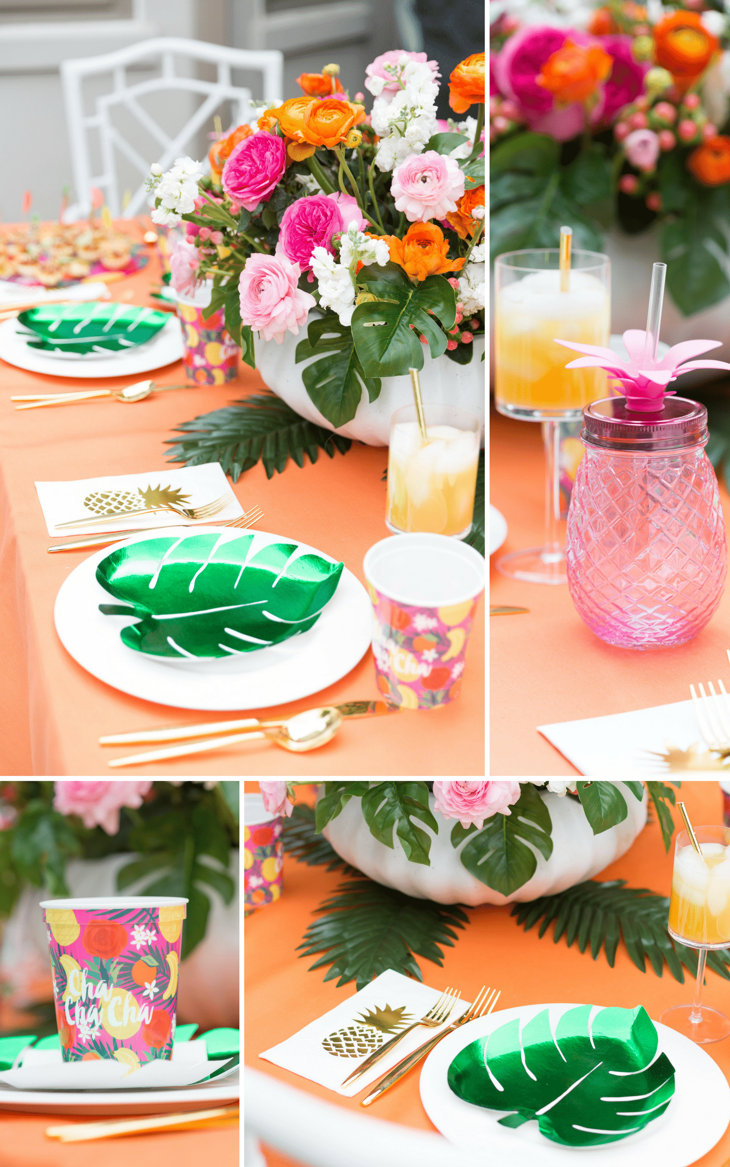 Tablescape tips for hosting a tropical soiree!