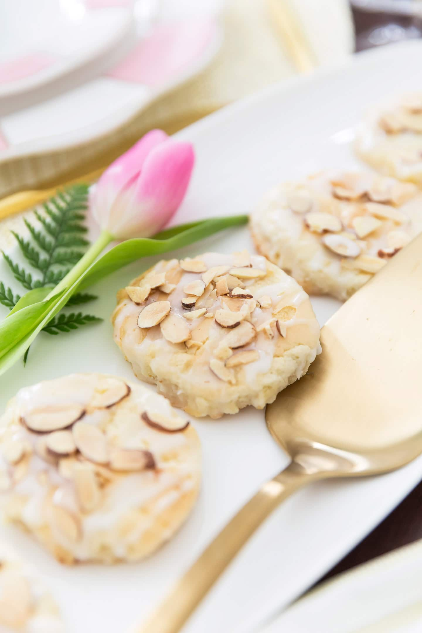 Almond Pastry Cookies, glazed flaky delicious almond!