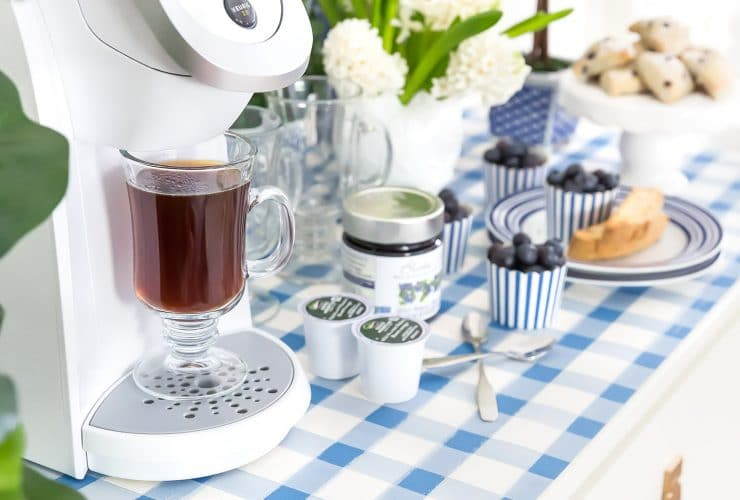 Give Your Coffee Station a Spring Refresh + Blueberry Frappuccinos!