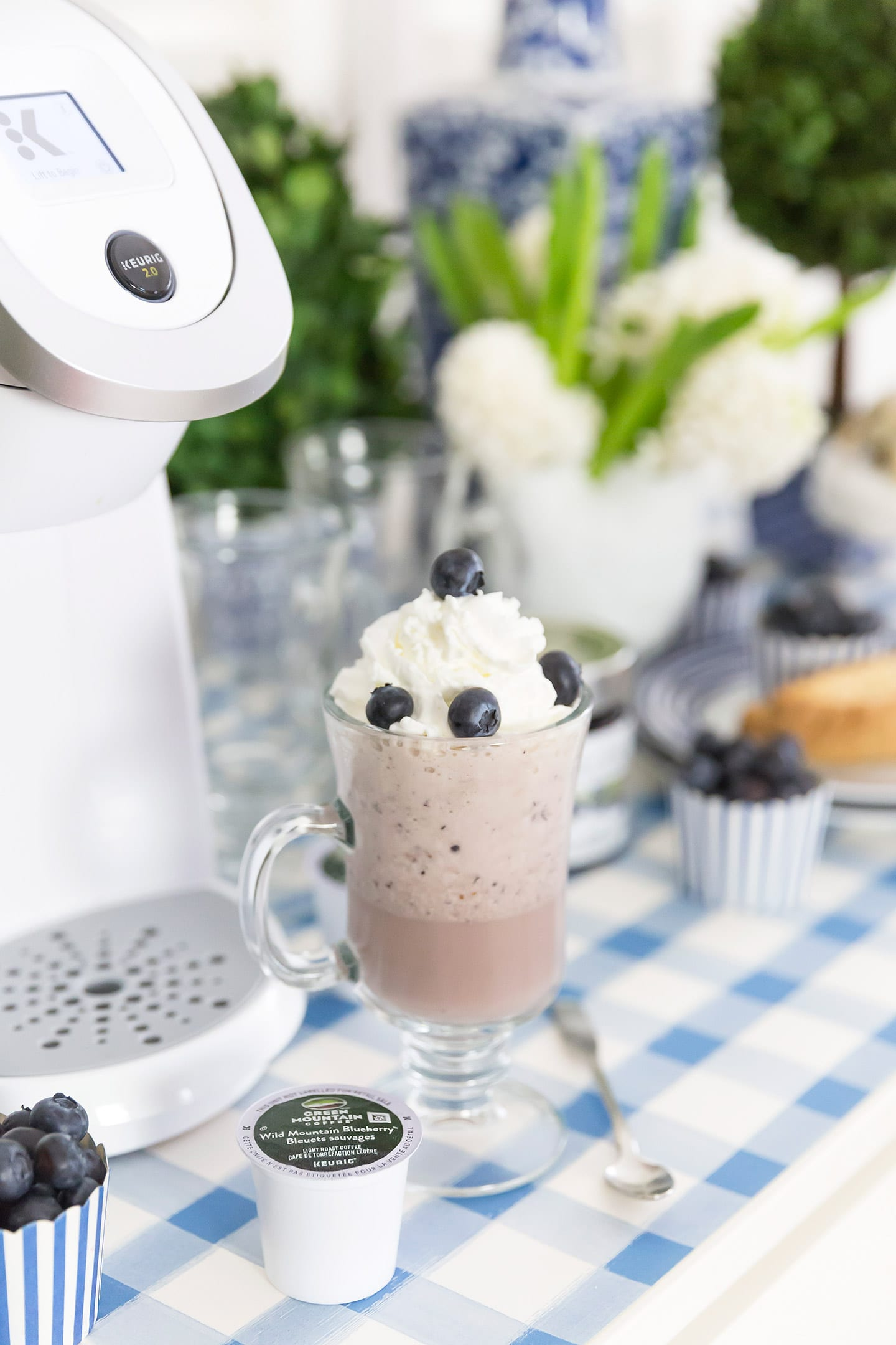 Blueberry Frappuccino Recipe and Spring Refresh!