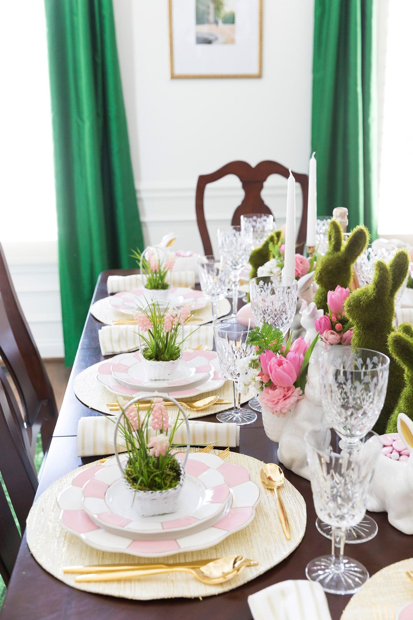 Set a gorgeous Easter Tablescape & Easter Table Decorations \u0026 Place Setting Ideas! | Pizzazzerie
