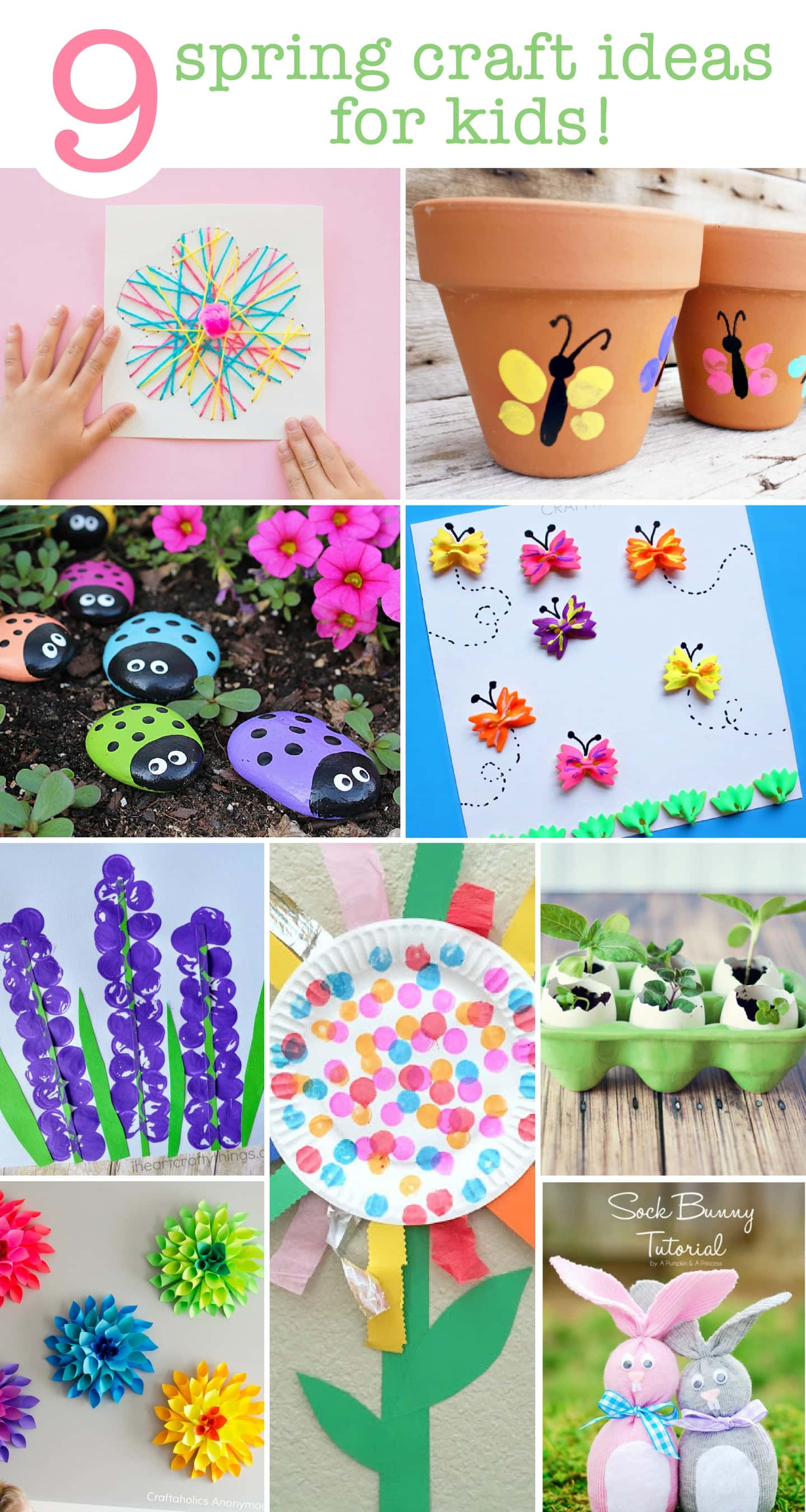 Cute spring craft ideas for the kids (toddlers too)! Great list for those rainy days!