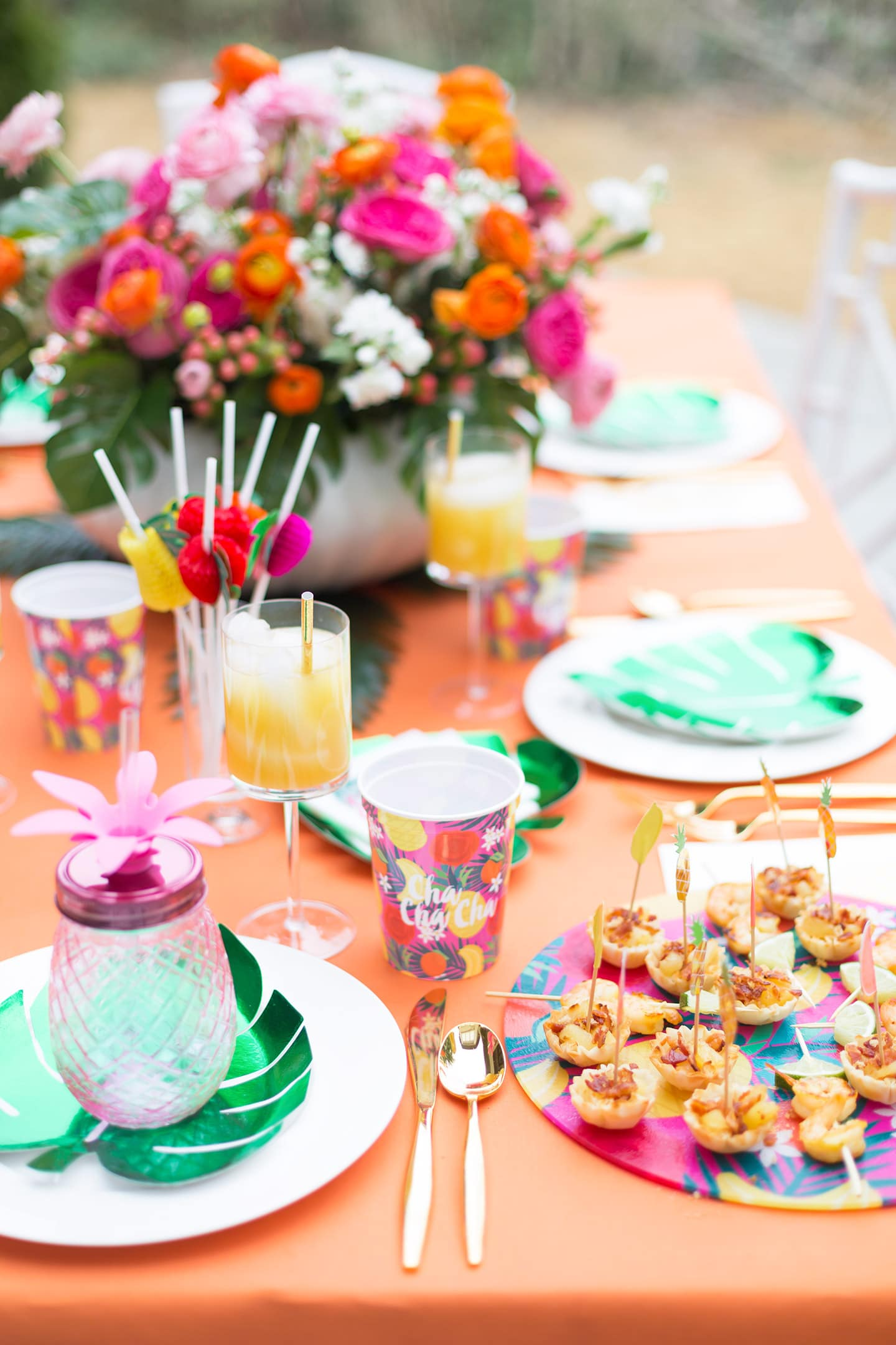 Host a Tropical Soiree with Pizzazzerie!