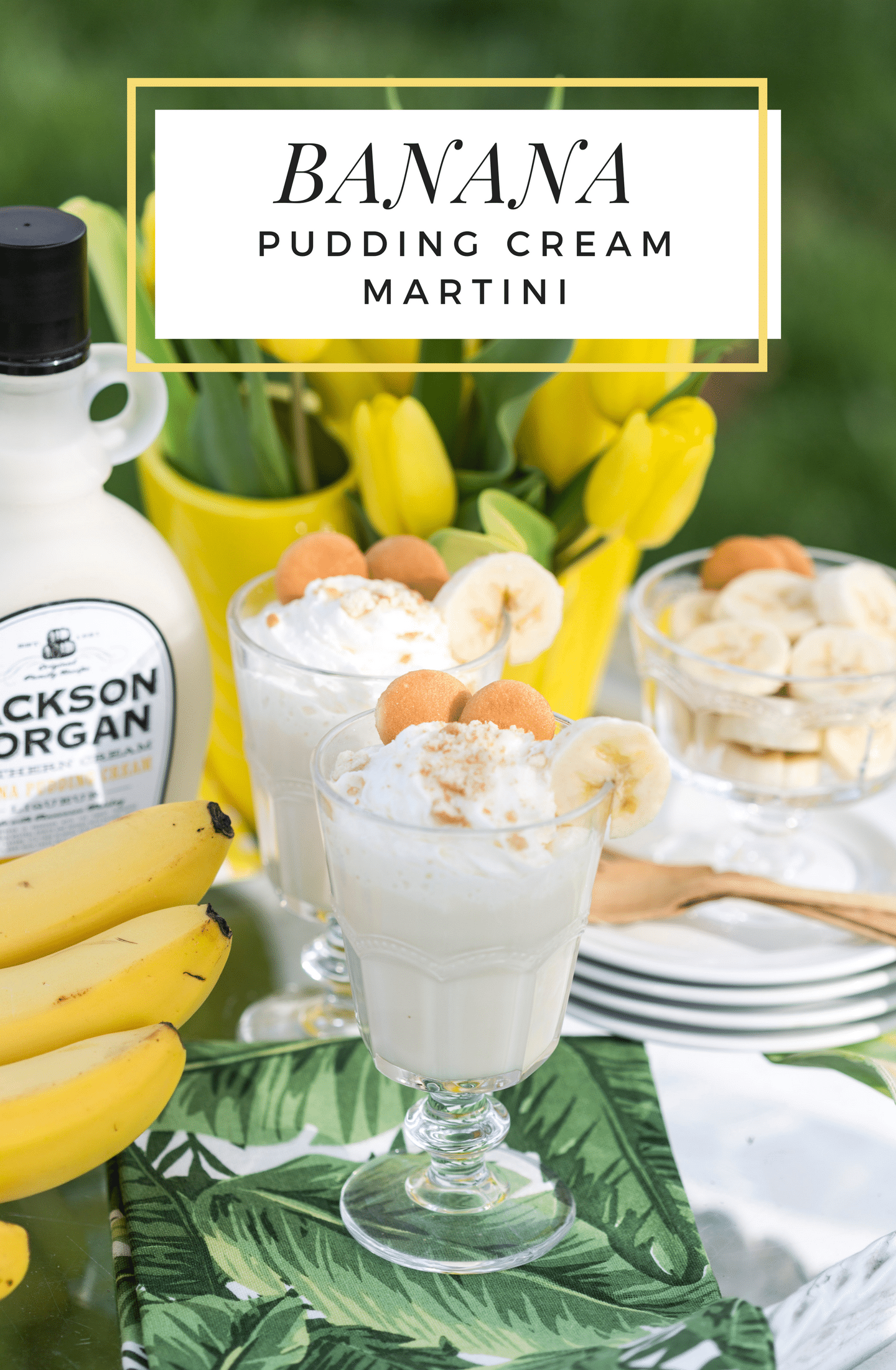 Easy and Delish Banana Pudding Cream Martini!