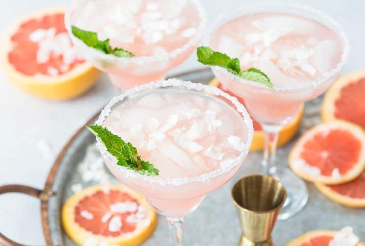 Coconut Grapefruit Margaritas