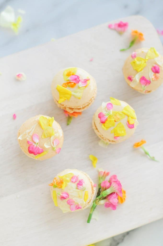 Edible Flower Macarons, Creative Uses for Edible Flowers