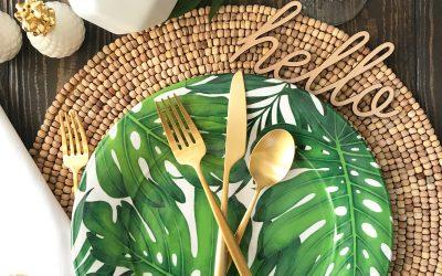 Palm Leaf Tablescape