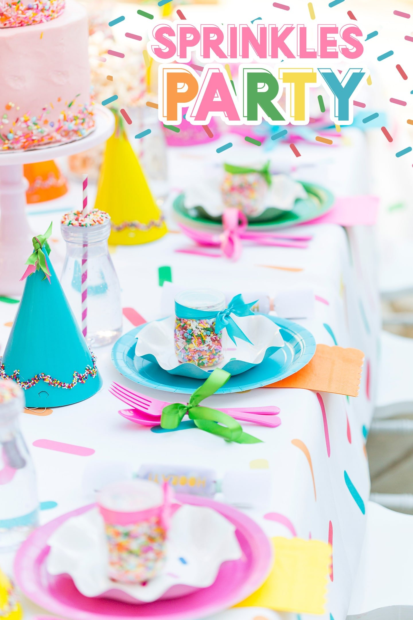 Sprinkles Themed 3rd Birthday Party