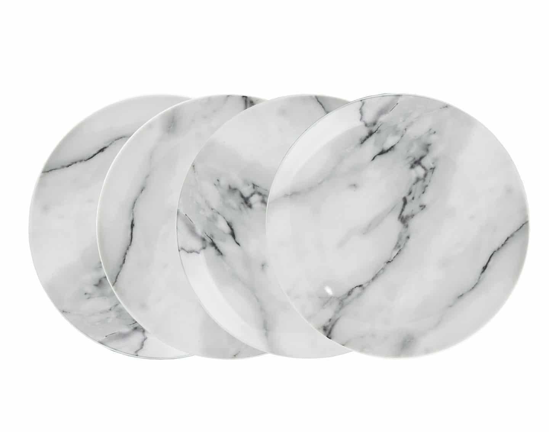 Marble Porcelain Salad Plates
