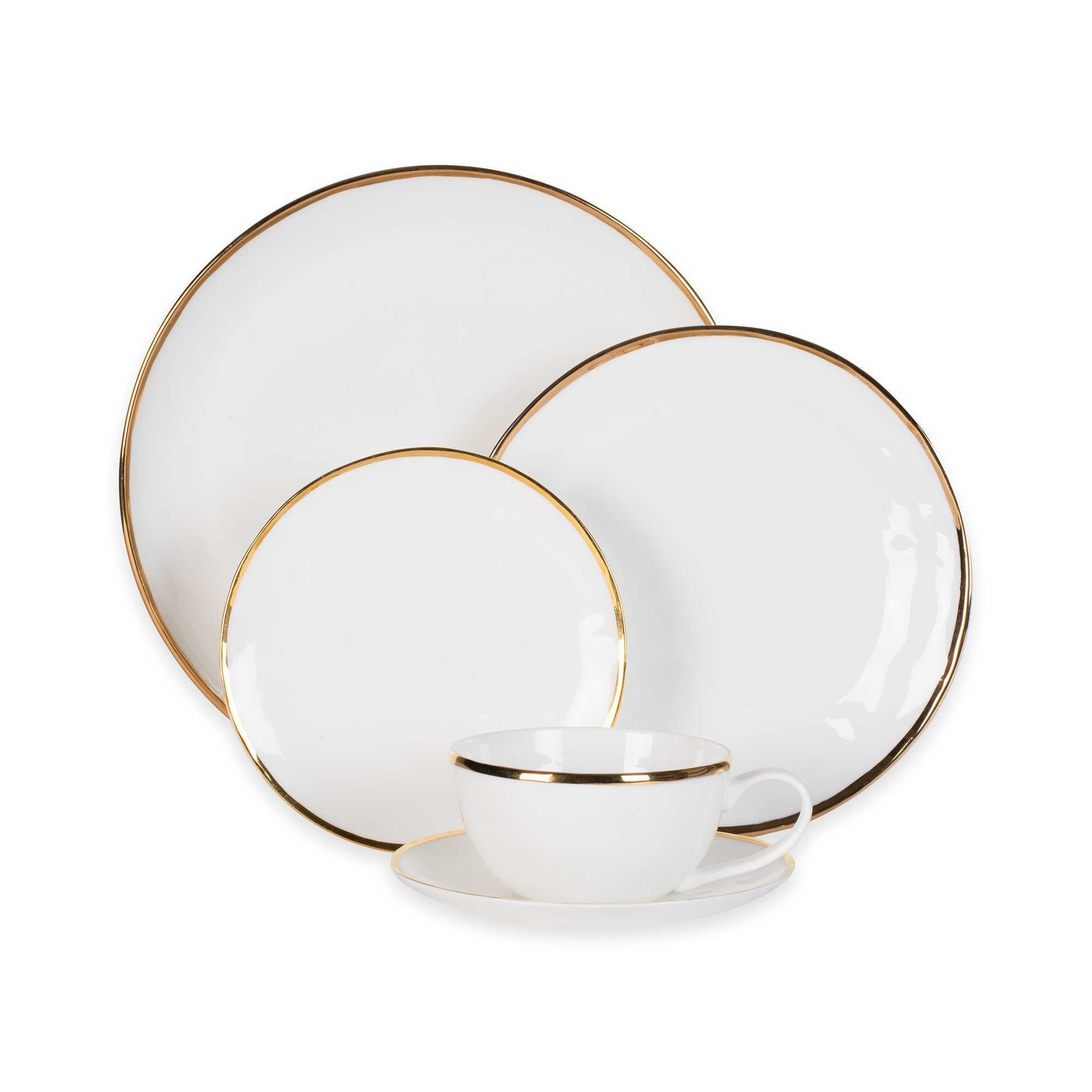 Olivia & Oliver Harper Organic Shape Gold 5-Piece Place Setting