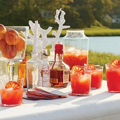 table of orange cocktails