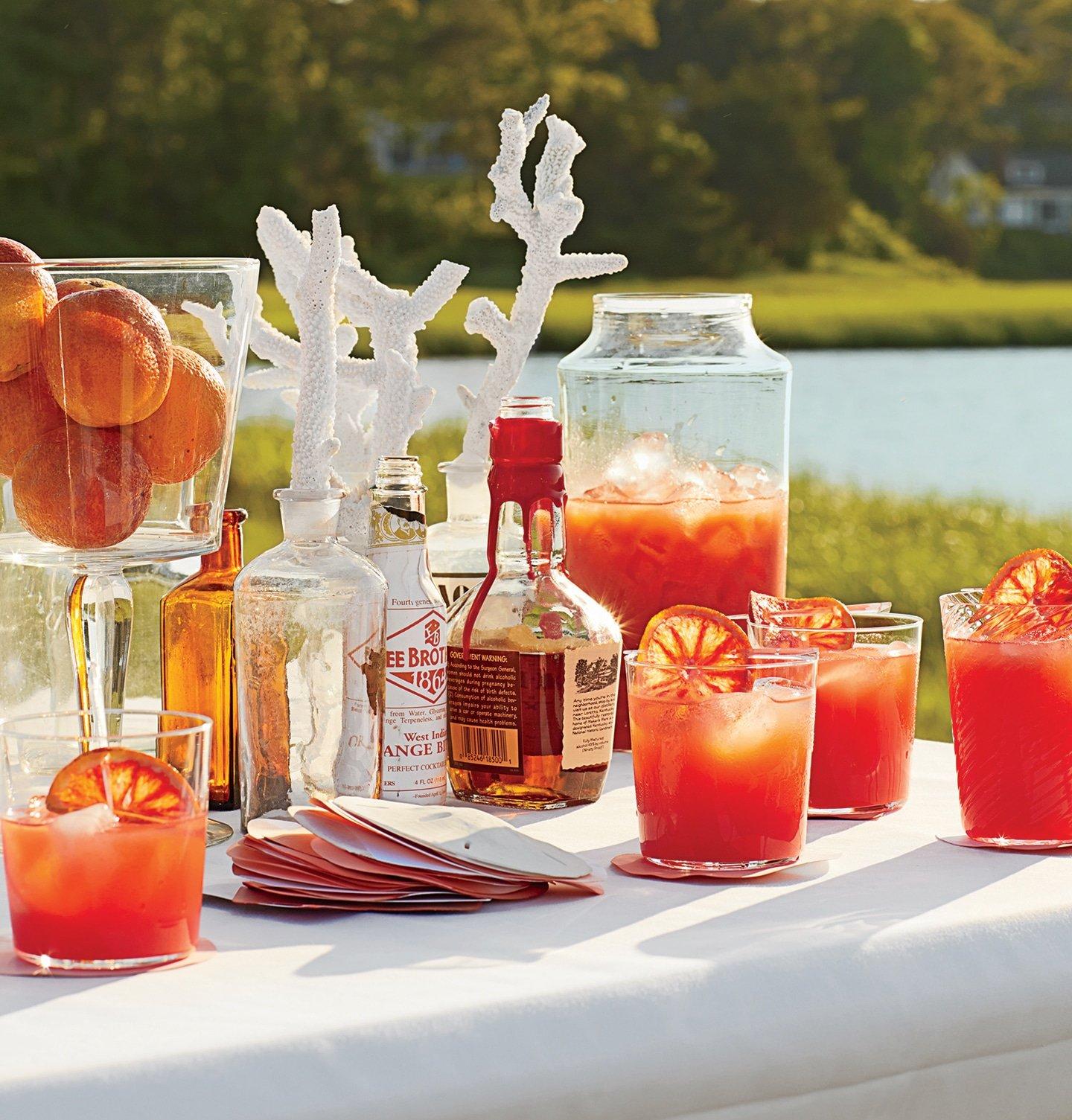 Beach Cocktails | Blood Orange-Bourbon Coolers