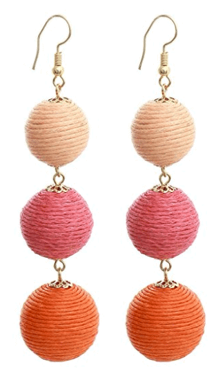 Pink Ombre Bauble Earrings