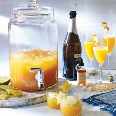 Beach Cocktails: Tropical Champagne Punch