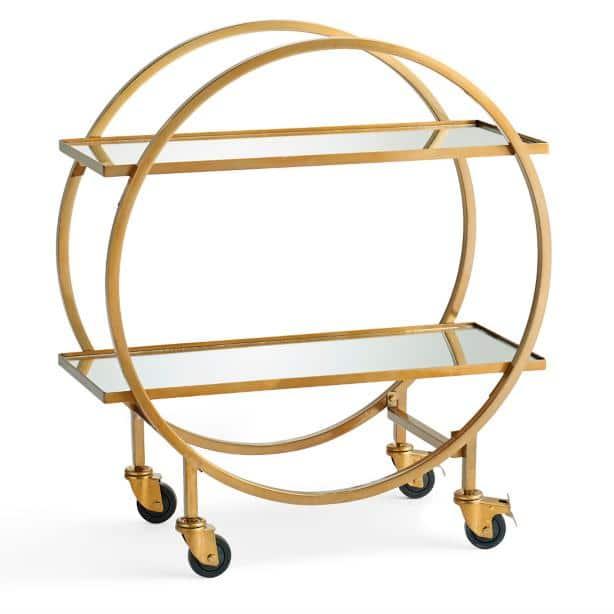 Halsted Gold Bar Cart