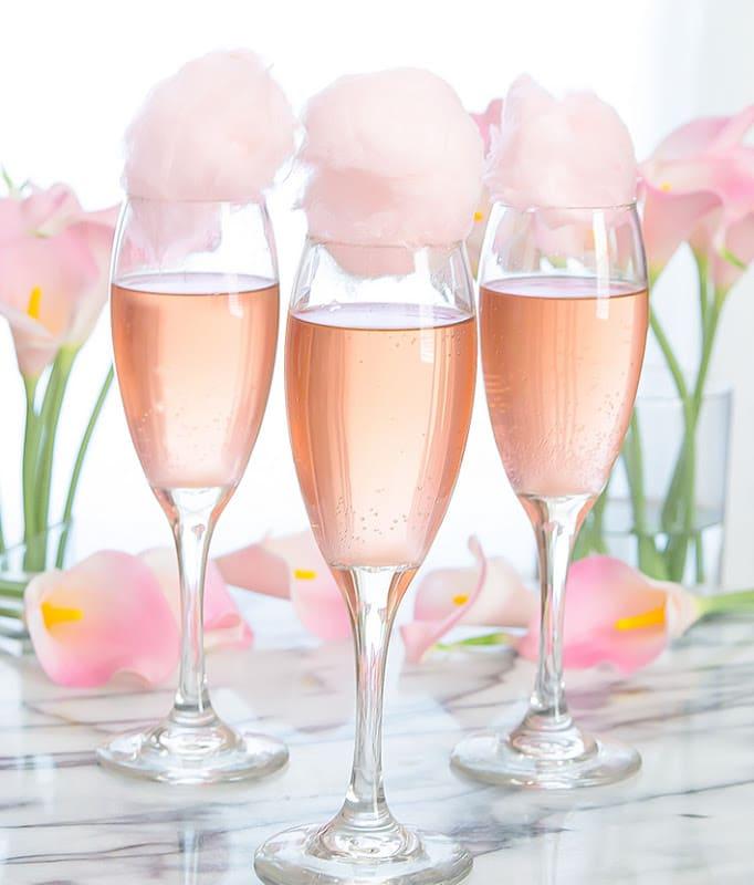 Rosé champagne Cocktails