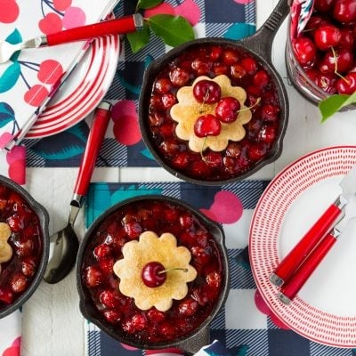National Cherry Cobbler Day, celebrate with skillet cherry cobbler!