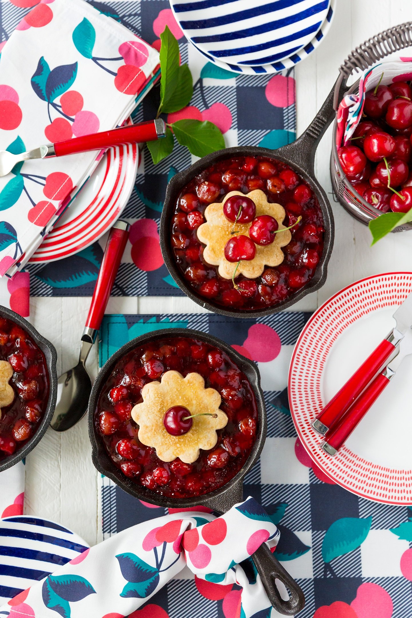 Cherry Cobbler Day, celebrate with a homemade skillet cherry cobbler!
