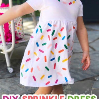 How to make a DIY Sprinkle Dress \\ Silhouette Cameo 3